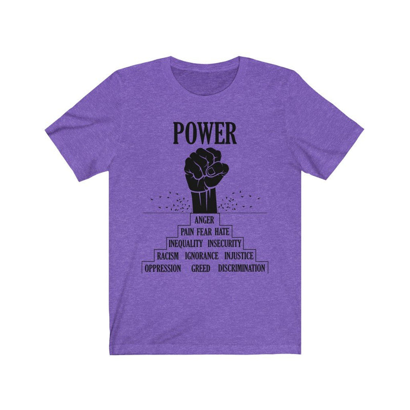 Purple black power t-shirt