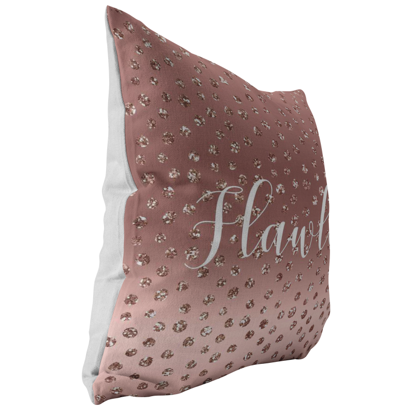 Flawless Rose Gold Throw Pillow