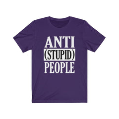 Purple Anti Stupid People Shirt