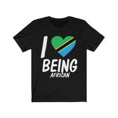 Black I Love being African, Tanzania Shirt