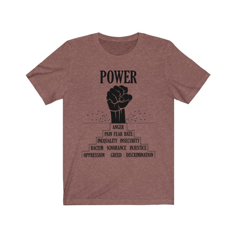 Clay black power t-shirt