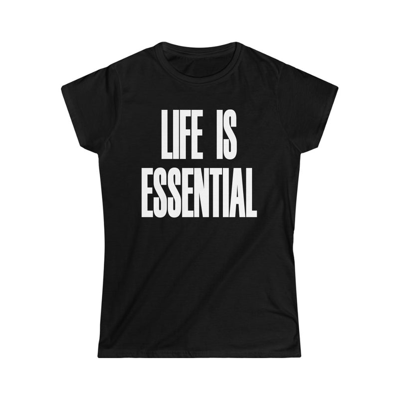 Life is Essential T-Shirt, Black