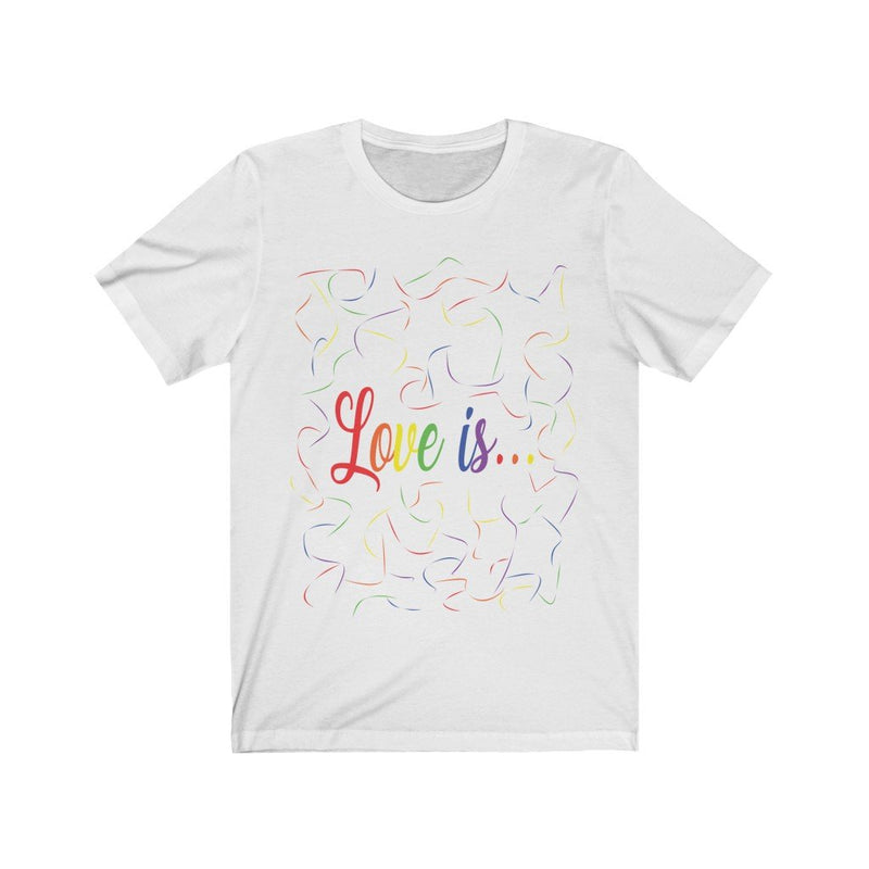 White and Rainbow Love Is Pride T-Shirt