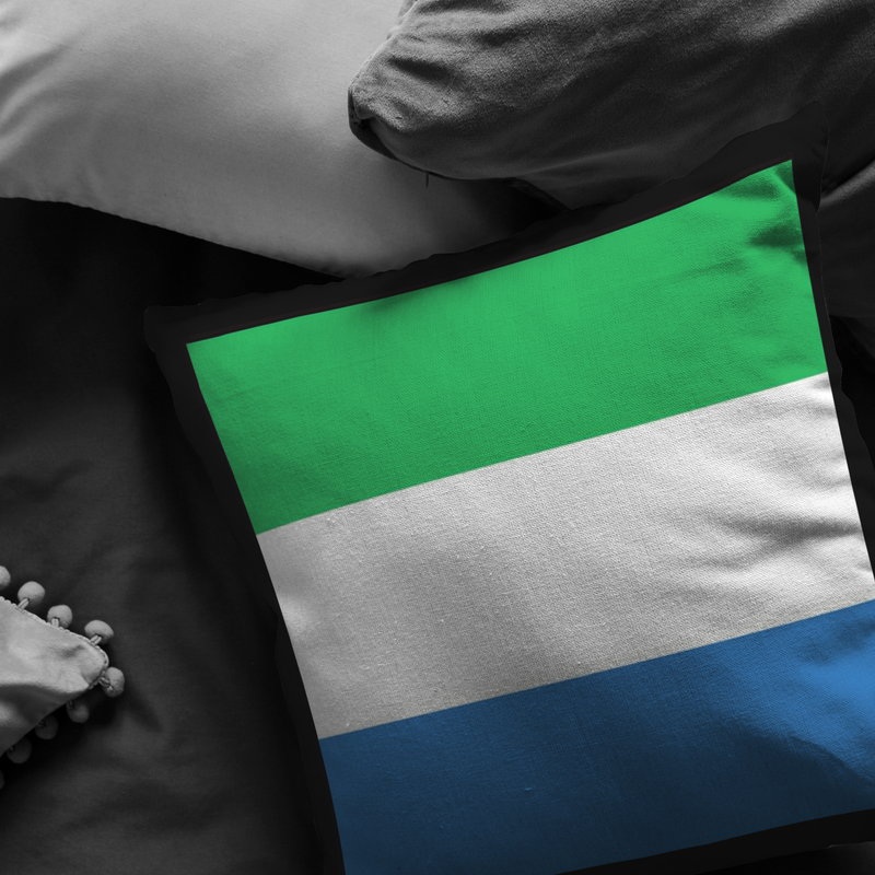 Sierra Leonean Flag Pillow Case