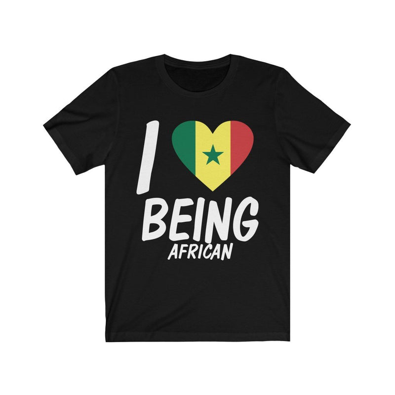 Black I love being African, Senegal shirt