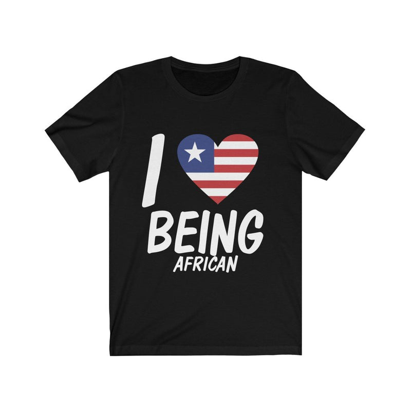 Black I love being African, Liberia shirt
