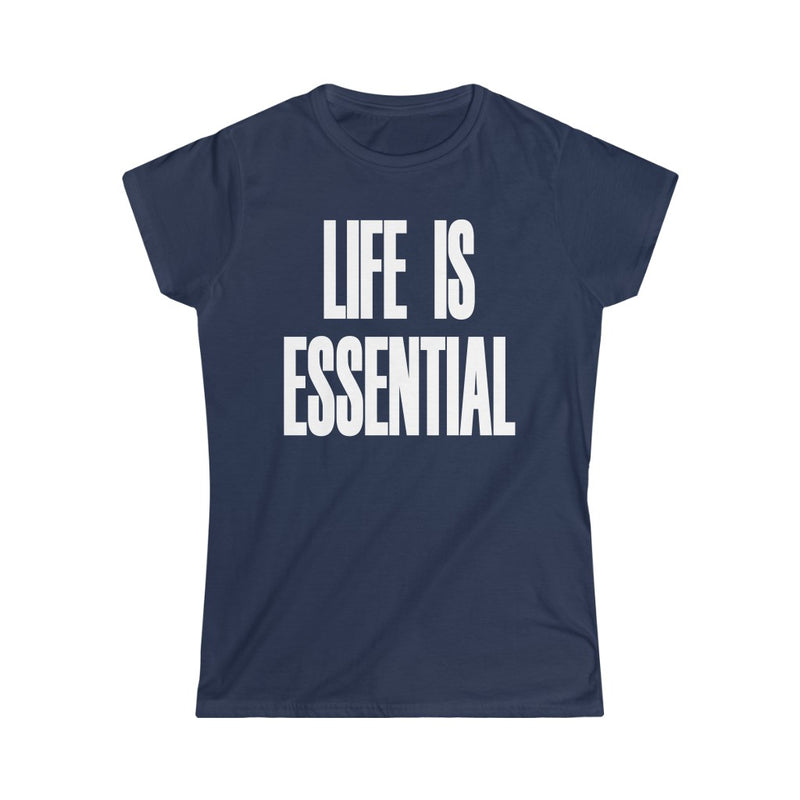 Life is Essential T-Shirt, Navy Blue