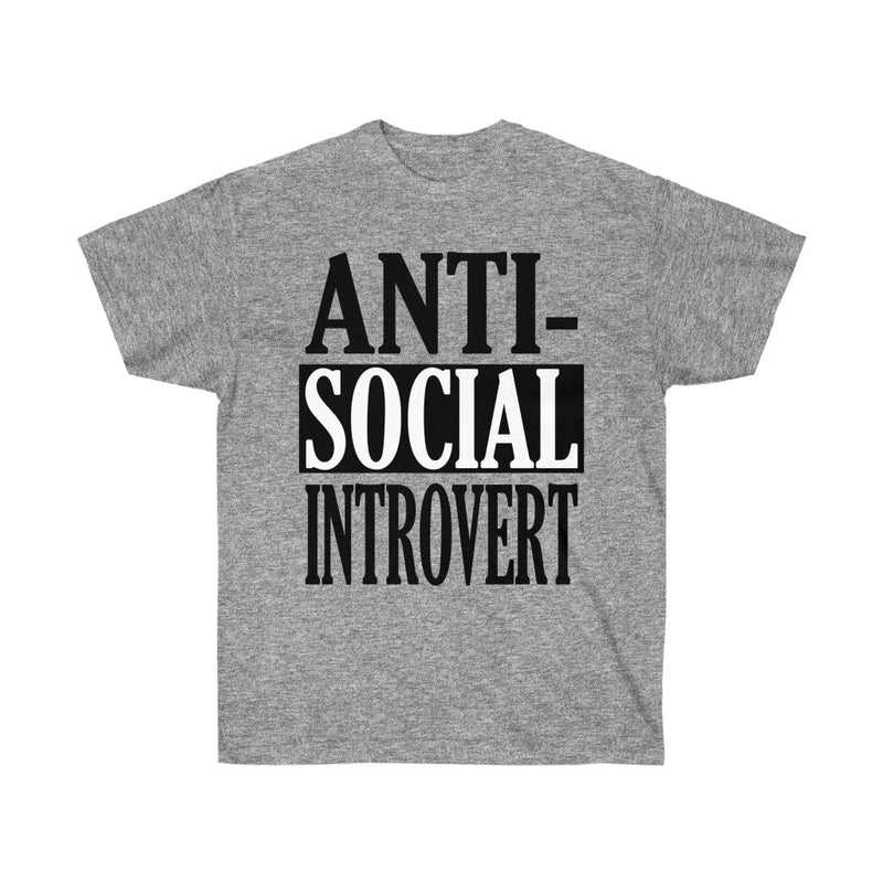 Heather Gray Antisocial Introvert T-Shirt