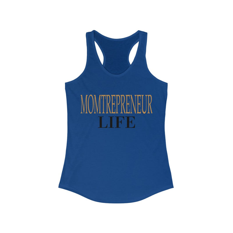 Momtrepreneur Life Tank Top, Blue