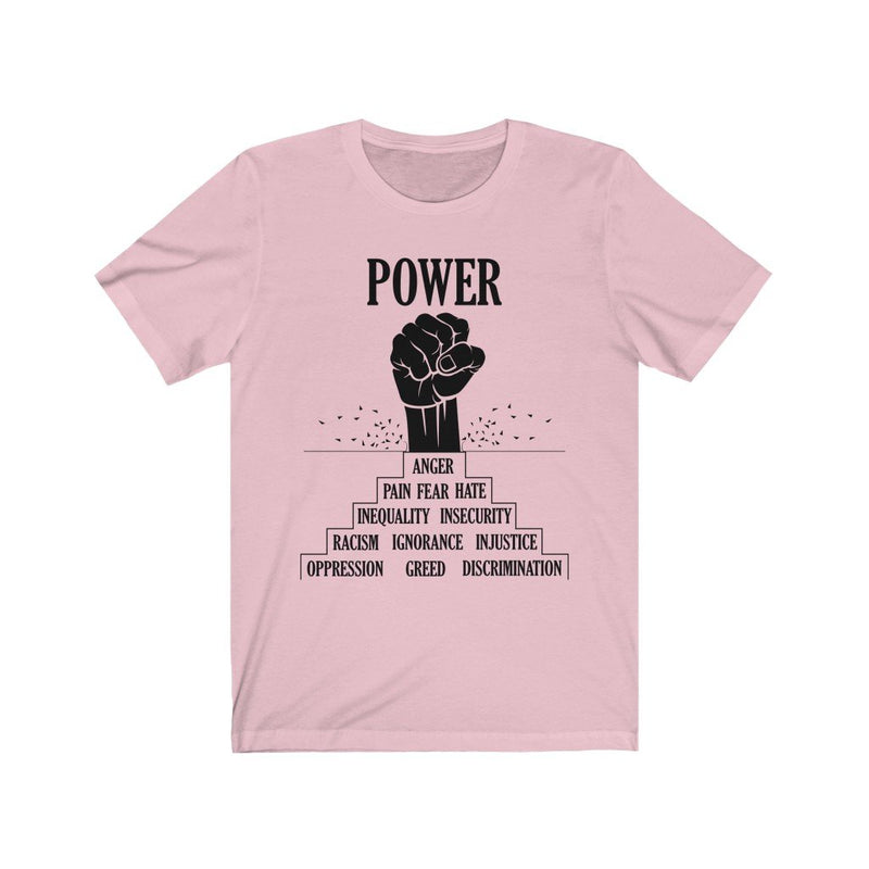 Pink black power t-shirt