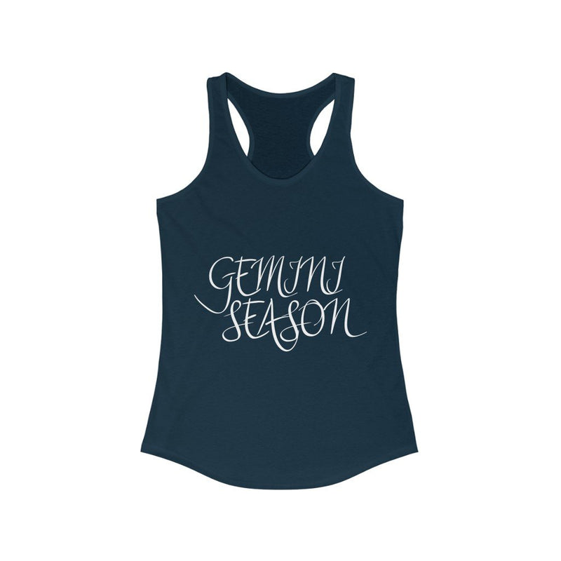 Navy Blue Gemini Season Tank Top