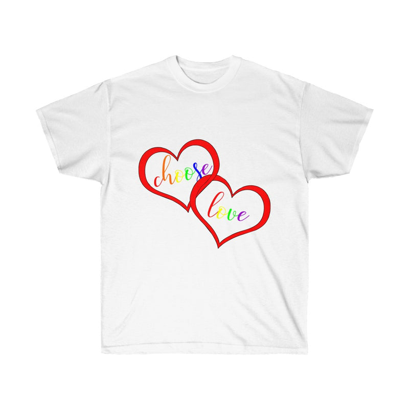 Choose Love Pride White T-Shirt