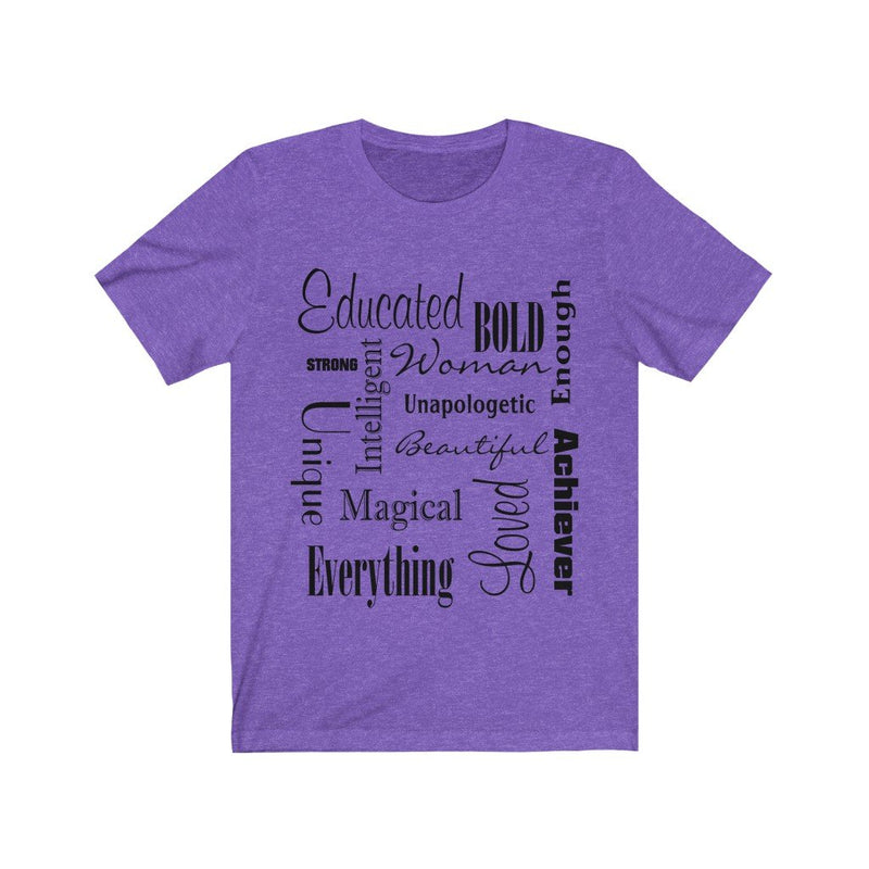 Purple Words of Affirmation Women's Short Sleeve T-Shirt