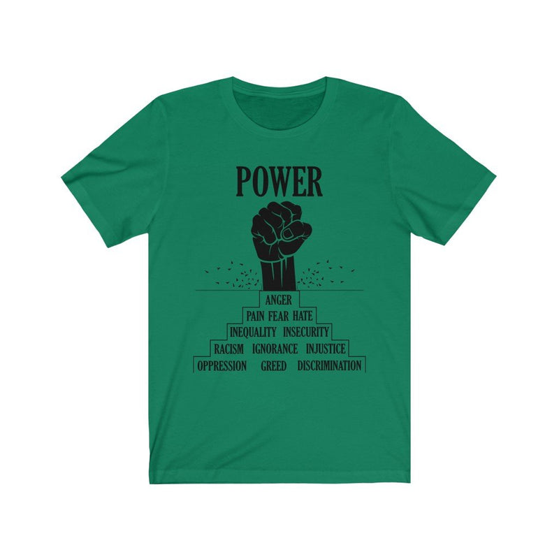 Green black power t-shirt
