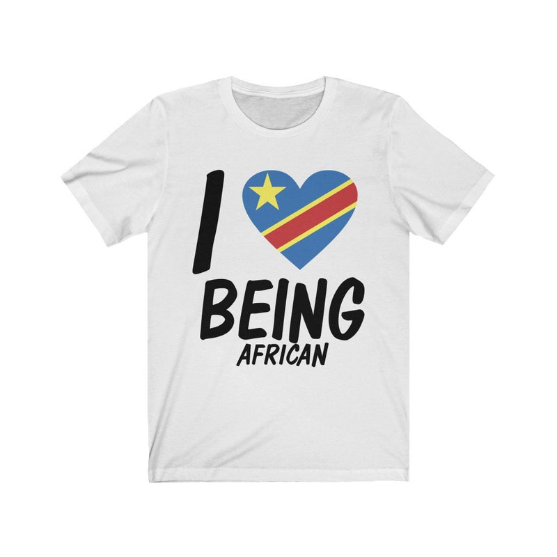 White I love being African Congo tee