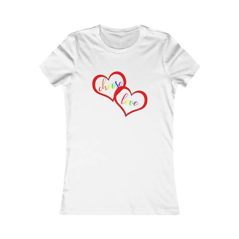 White Choose Love lgbtq Pride T-Shirt