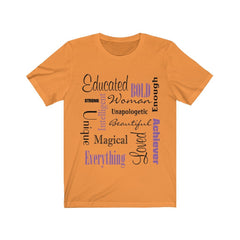 Orange Words of Affirmation Women's Short Sleeve T-Shirt