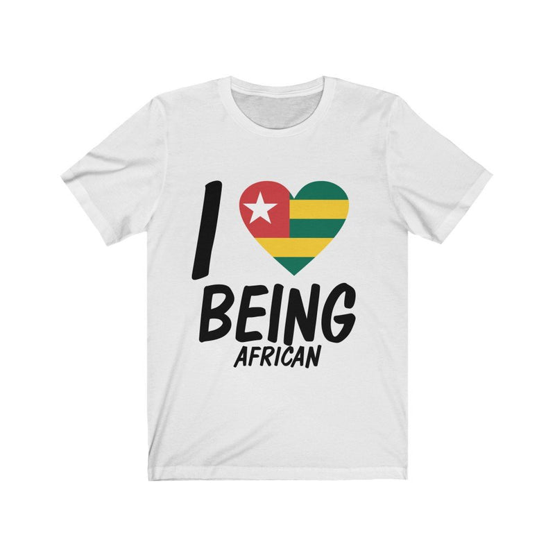 White I Love Being African, Togo Shirt