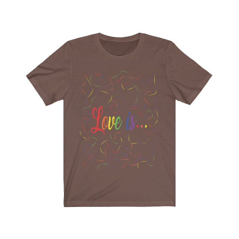 Brown and Rainbow Love Is Pride T-Shirt