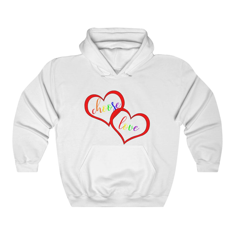 Choose Love Pride White Hoodie