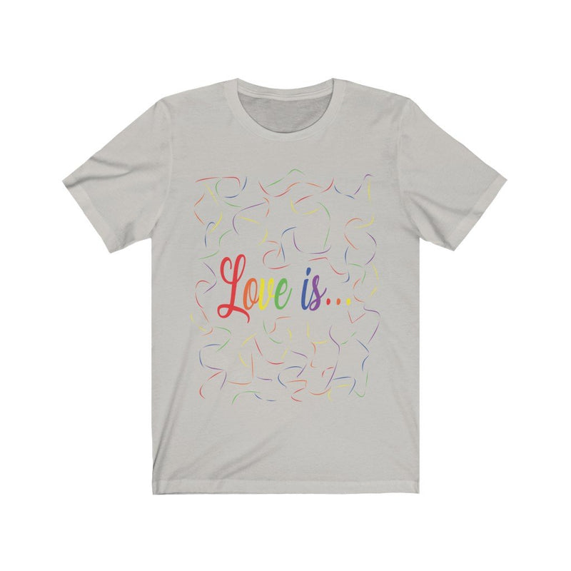 Silver and Rainbow Love Is Pride T-Shirt