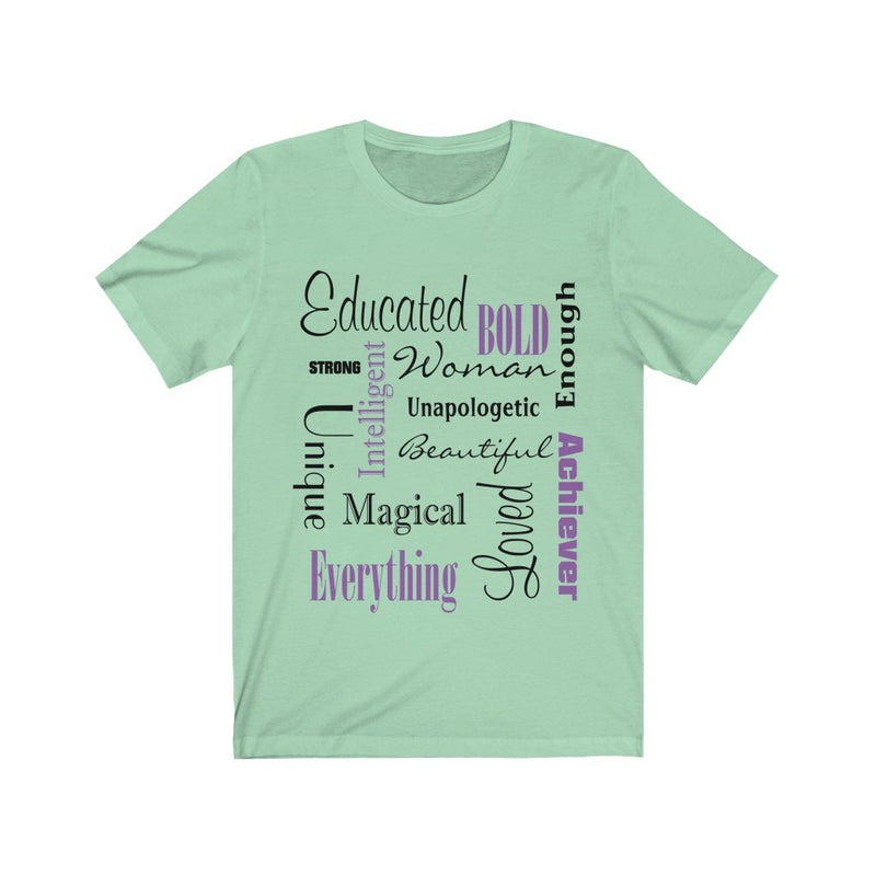 Mint Words of Affirmation Women's Short Sleeve T-Shirt