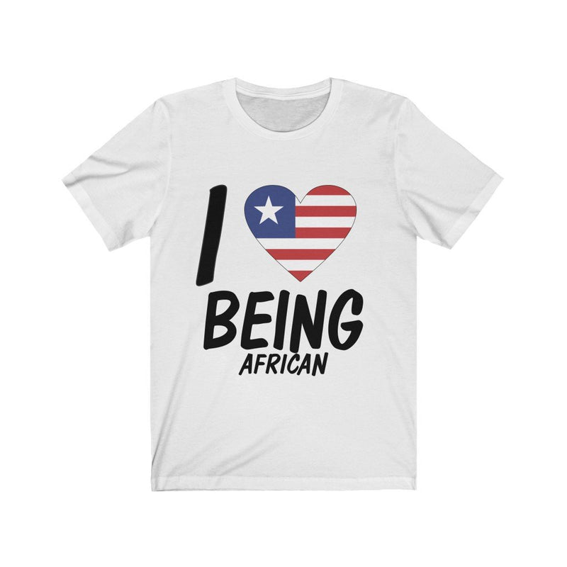White I love being African, Liberia shirt