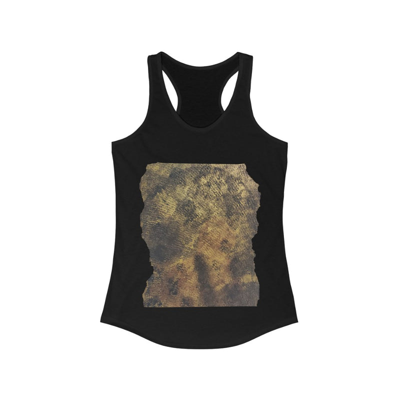 Faded Black Woman Painted On Black Tank Top