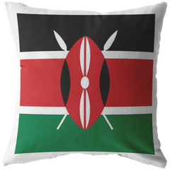 Kenyan Flag Throw Pillow