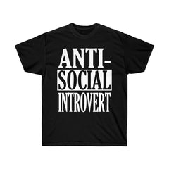 Black Antisocial Introvert T-Shirt