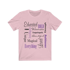 Pink Words of Affirmation Women's Short Sleeve T-Shirt