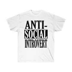 White Antisocial Introvert T-Shirt