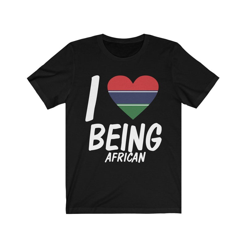 Black I love being African Gambia Tee