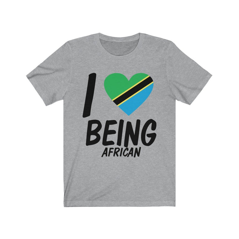 Gray I Love being African, Tanzania Shirt