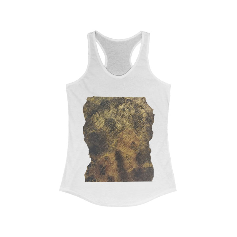 Faded Black Woman Painted On White Tank Top