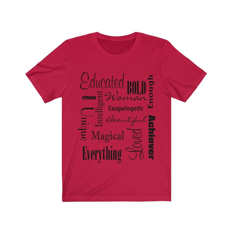 Red Words of Affirmation Women's Short Sleeve T-Shirt
