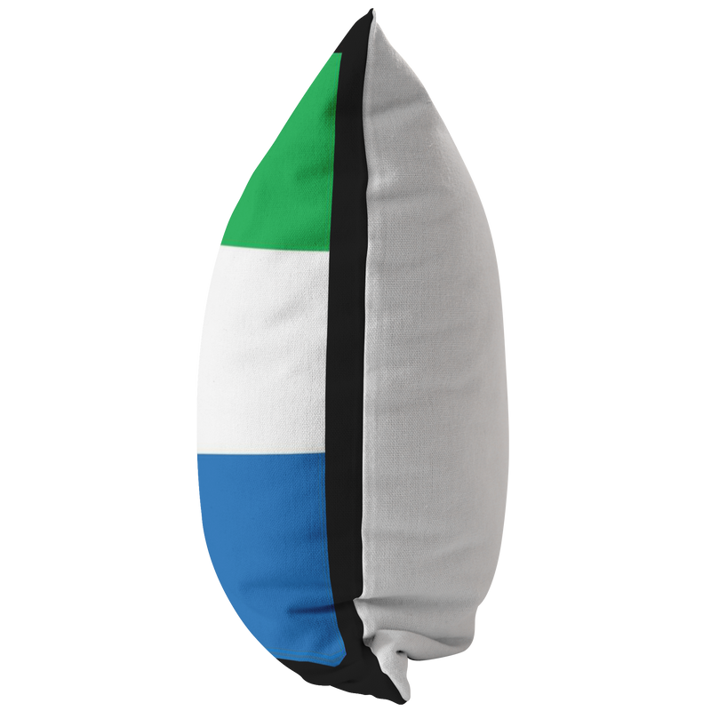 Sierra Leonean Flag Throw Pillow