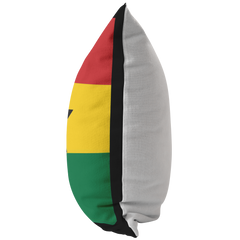 Ghanaian Flag Throw Pillow