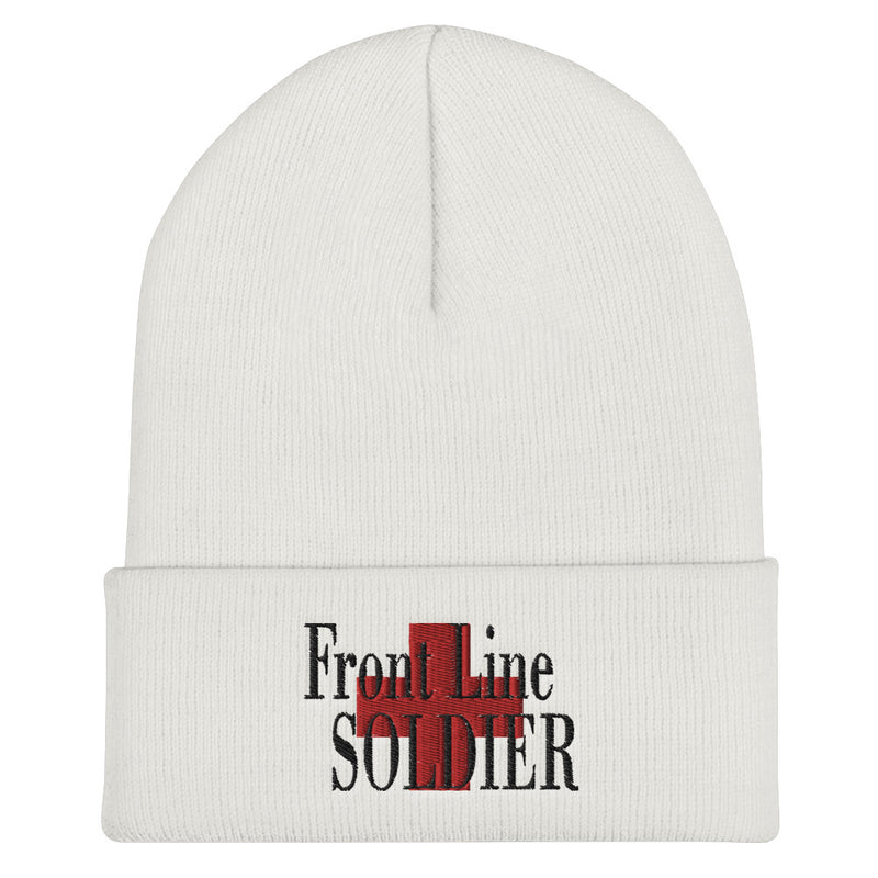 White First Line Soldier Beenie