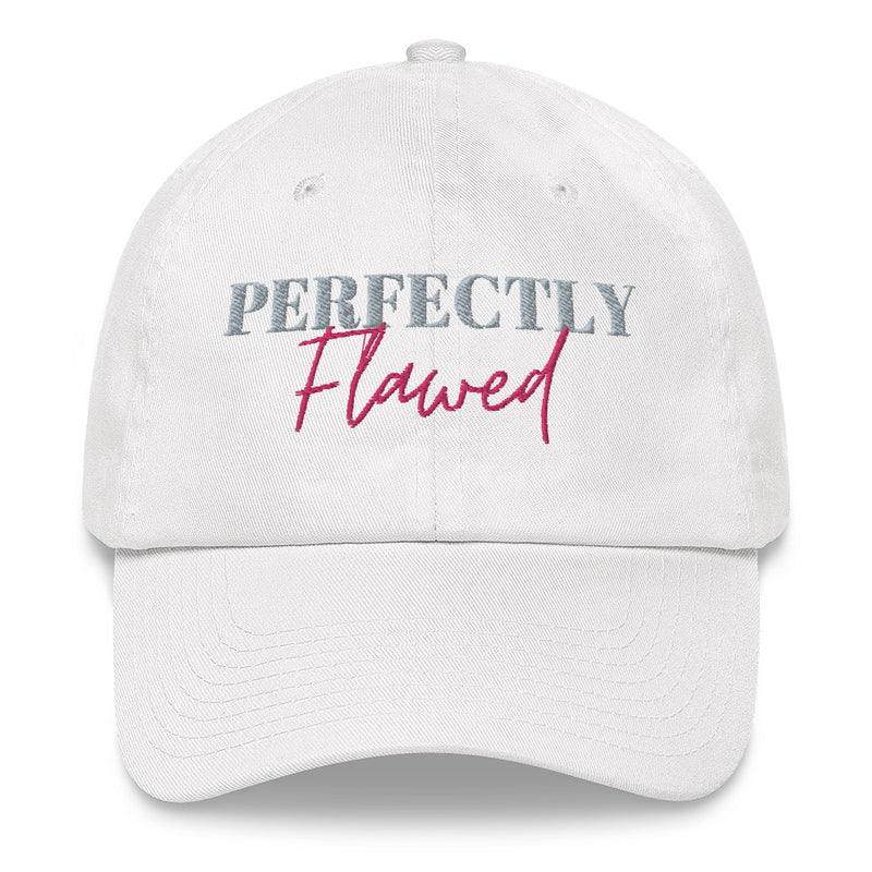 White Perfectly Flawed Hat