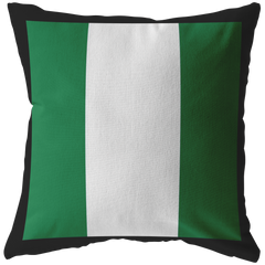 Nigerian Flag Throw Pillow