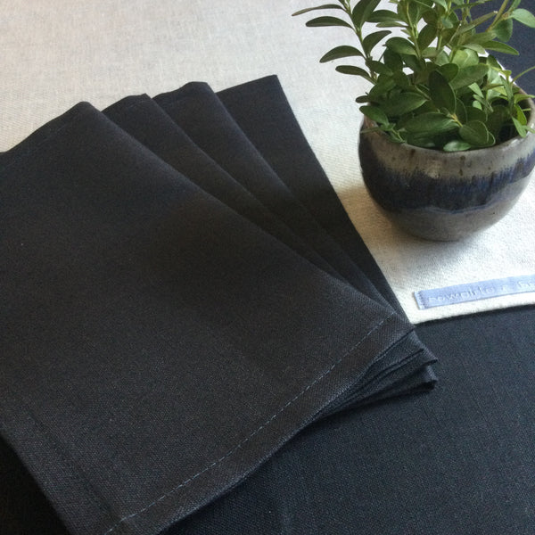 Linen Dessert/ Beverage Napkins Set of 4