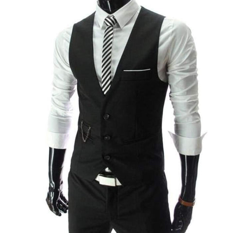 2020 New Arrival Dress Vests For Men Slim Fit Mens Suit Vest Male Waistcoat Gilet Homme Casual Sleeveless Formal Business Jacket - World Amazing Fashion