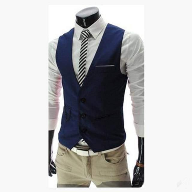 2020 New Arrival Dress Vests For Men Slim Fit Mens Suit Vest