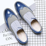 Big Size New Fashion Men Brogue Business Formal Dress Shoes
