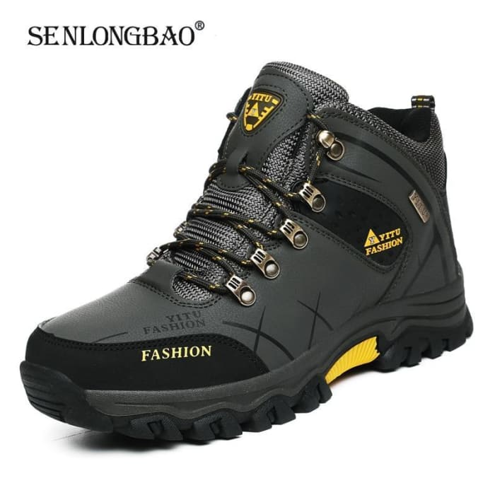Brand Men Winter Snow Boots Waterproof Leather Sneakers