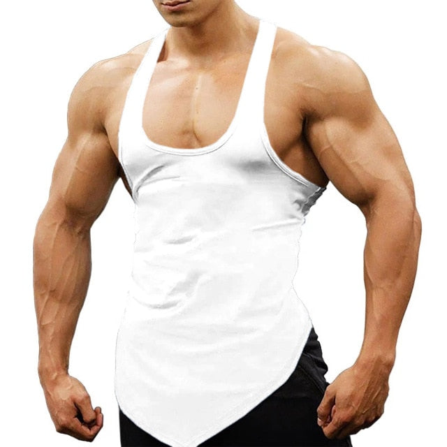Bodybuilding Fitness Workout Irregular Hem Tank Top For Men | World Amazing Fashion