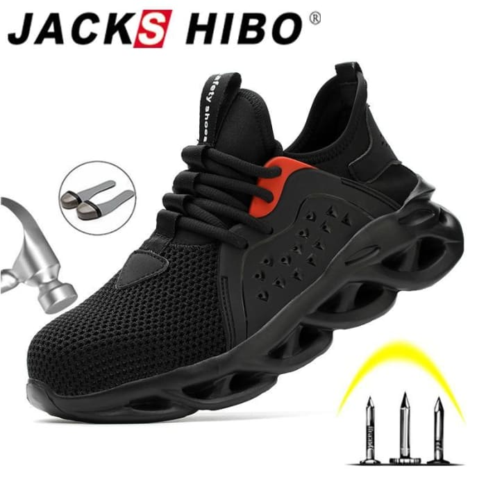 JACKSHIBO Work Safety Shoes For Men Summer Breathable Boots