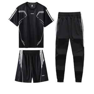 Jogging Shorts With Pants Sportswear 3 Piece Set | World