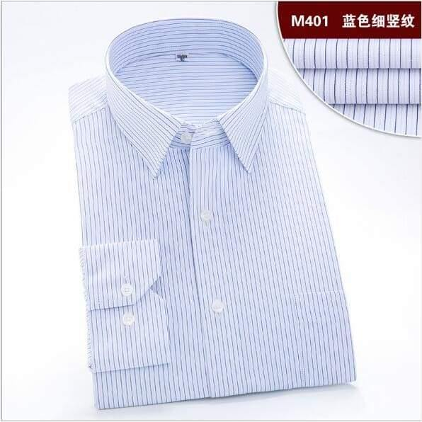 Long Sleeve Dress Shirt Men Brand Clothing Cotton High